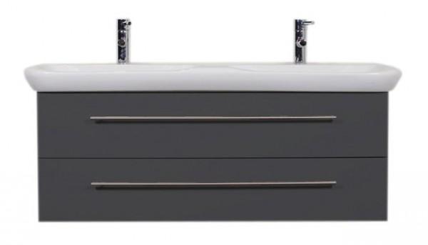 GEBERIT MyDay Waschbecken 130 cm mit passendem Unterschrank anthrazit seidenglanz