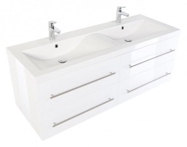 POSSEIK - Badmöbelset Aurelion XL Weiß Hochglanz