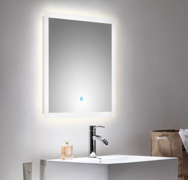 POSSEIK - CARPO Set 60 S Badmöbel mit LED Spiegel anthrazit seidenglanz