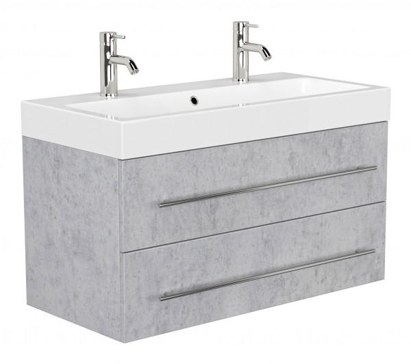 POSSEIK - LIVONO Doppelbadmöbel beton