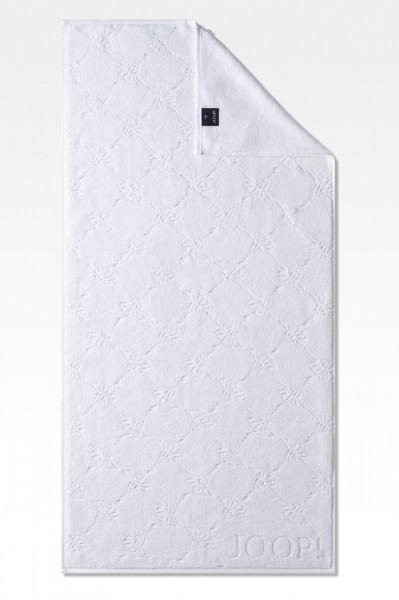 JOOP! Handtuch - Uni Cornflower - Weiß - 50x100